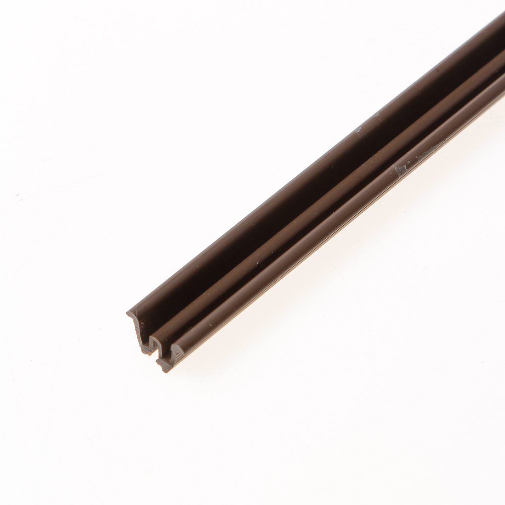 Ziehl schuifdeurrail 1440 pvc bruin 2000 x 9,5 x 7,5mm