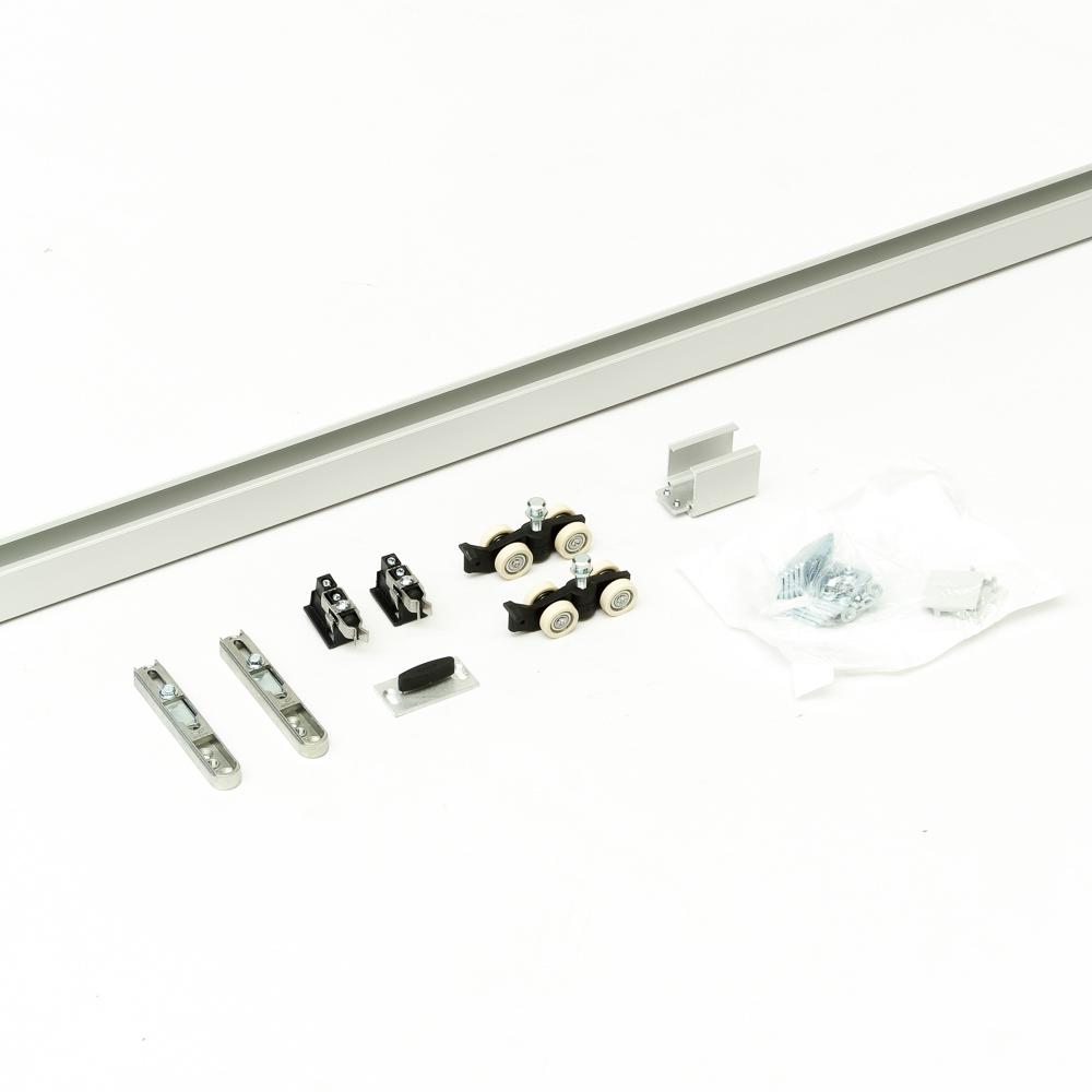 Argenta Proslide standard-fix 2 meter compleet schuifdeurpakket voor 1 deur incl. 2x eindstop